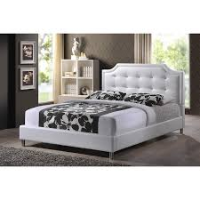 upholstered headboard and footboard king. Fine Footboard King Size Bed Frame Faux Leather Platform Upholstered Headboard  Footboard Tuft BRAND NEW With And Z