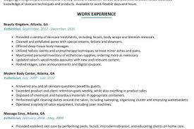 Interior Sample Esthetician Resume 4k Pictures 4k Pictures Full