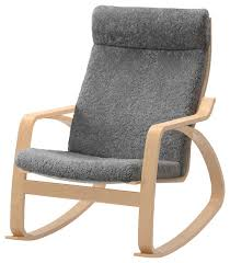 pong rocking chair lockarp gray scandinavian rocking gray rocking chair with ottoman