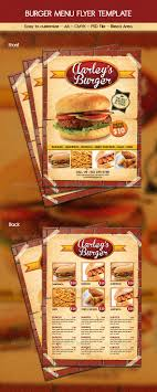Menu Flyer Template Burger Menu Flyer Template by arifpoernomo GraphicRiver 1