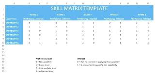 Skill Set Template Skill Set Matrix Template Excel