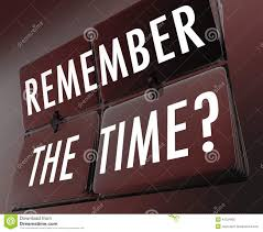 Remember The Time Words Clock Flipping Tiles Stock Illustration
