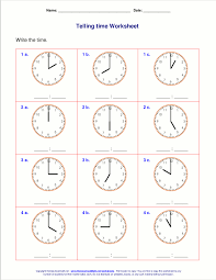 Wonderful Time Worksheets Archives First Grade Free Printable ...