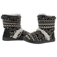 Details About Muk Luks Holly Womens Short Knit Sweater Bootie Slippers House Shoes
