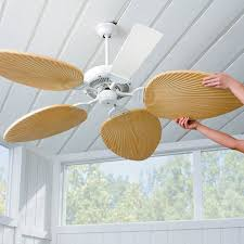 ceiling fan blades. palm-leaf ceiling fan blades-set of 5 blades