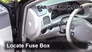 interior fuse box location 2000 2005 chevrolet impala 2003 locate interior fuse box and remove cover