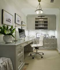 l shaped home office. View Full Size. Gray Office With L Shaped Home -