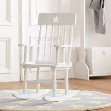 white wooden rocking chair. Kids Wooden Rocking Chair White A