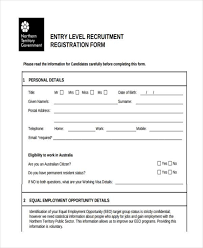 form for job 9 job registration form samples free sample example format download