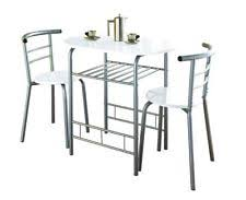 modern white chairs. Modern White High Gloss Dining Table And 2 Chairs Set Metal Frame Kitchen T