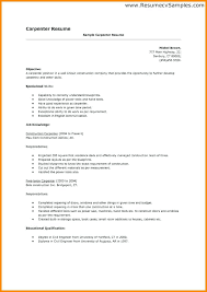 Carpenter Resume Carpenter Resume Builder Resume Templates ...