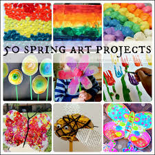 50 Spring Art Projects for Kids - gorgeous collection of rainbows, colors,  birds and