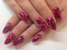 Ibd parisol gel polish with freehand paisley nail art design over ...