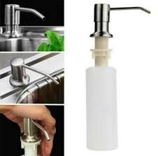 soap dispenser stainless steel kitchen bathroom countertop h