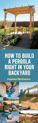 Simple Pergola how to build a pergola step by step diy building a pergola 8220 by xevi.us