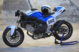 this 650 sv has been created to pare in coffee preparation suzuki racer france based on the new 650sv