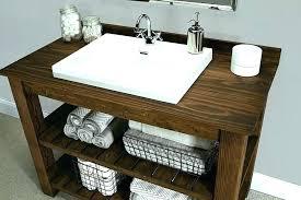 bathroom sink decor. Rustic Wood Bathroom Sink Unit Vessel Sinks Vanity 5 Photos Ideas.  Ideas Bathroom Sink Decor G