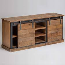 reclaimed wood sliding barn door console ships free media cabinet with doors ikea media cabinet with glass doors