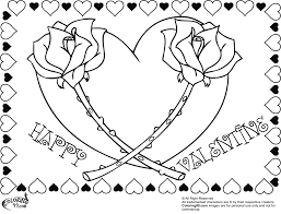 Small Picture FREE happy valentine rose heart coloring pages for adults FREE