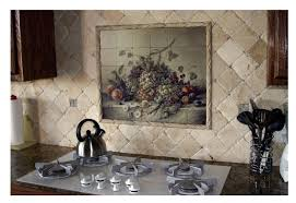Mural Tiles For Kitchen Decor Kitchen Fabulous Kitchen Backsplashes Designs With Diagonal 38