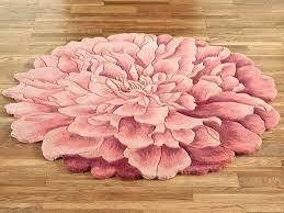 fl bath rug bathroom rugs blooms flower shaped round print fl bath rug