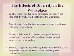 diversity in the workplace  7 the effects of diversity in the workplace
