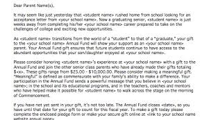letter of appeal example end of year senior class parent appeal letter nonprofit