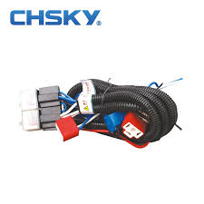 wiring harness kit promotion shop for promotional wiring harness chsky hot waterproof 24v 2 light h4 headlight wiring harness relay kits ch h4 2402et
