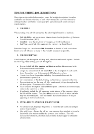 How To Write Job Profile In Resume Free Resume Example And