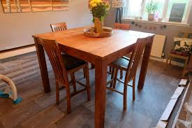 wooden dining table bar 4 chairs stools large square rustic add still up still for ono