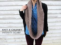 Knitted Scarf Patterns Using Bulky Yarn Delectable How To Knit A Chunky Infinity Scarf Stuff Steph Does