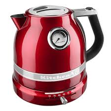 kitchenaid kek1522ca 1 5l electric kettle w temperature control candy apple red