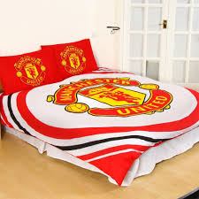 details about manchester united fc pulse double duvet cover and pillowcase set red bedding