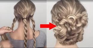 Image Chignon Simple Mariage Coupe De Cheveux Femme