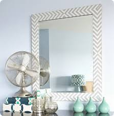 DIY Home Decor | Make a West Elm Inspired Herringbone Mirror with Fabric
