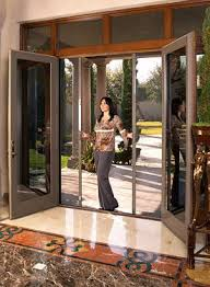 hinged patio door with screen. Retractable Door Screens For French, Entry, And Sliding Doors Hinged Patio With Screen