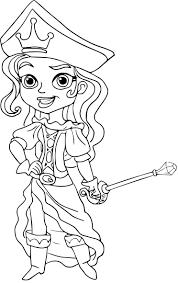 Coloriage Princesse Pirate Imprimer