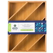 Kitchen Drawer Organizer Amazoncom Diagonal Space Saving Bamboo Drawer And Cabinet