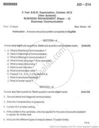 business communication paper management sybbm business communication paper 2 2012 management sybbm university exam bangalore university