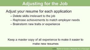 image titled create a resume for a teenager step 13 how do i make a resume
