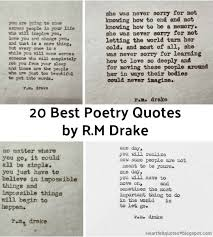 I Love You Quotes Mesmerizing 48 Best Poetry Quotes By RM Drake Heartfelt Love And Life Quotes