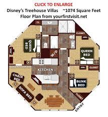 tree house floor plan. Floor Plan Disney\u0027s Treehouse Villas From Yourfirstvisit.net Tree House Floor Plan