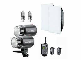 <b>Godox E250</b> (2x250W) Studio Flash Light + Trigger + Softbox + ...
