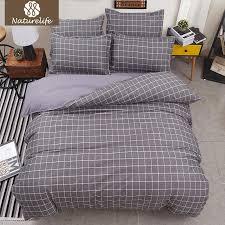 naturelife plaid bedding set soft sanding duvet cover set bedsheet pillowcase duvet cover twin full king bed linen de couette bedding duvet cover bedspreads