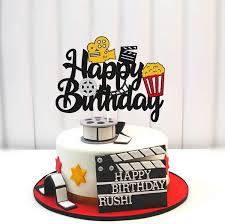 Buy Film Cake Topper Movie Cinema Birthday Cake Decoration Happy Birthday  Sign Cake Decor for Film Projector Movie Night Camera Popcorn Theater Theme  Bday Party Celerbrating Supplies Online in Turkey. B0913CJQXN