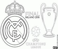 Kleurplaat Real Madrid Champions 2015 2016 Kleurplaten
