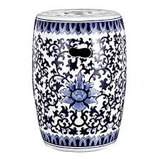 ceramic garden stools. Unique Garden Blue U0026 White Ceramic Garden Stool 11u0026quot  For Stools