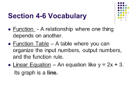 grade 7 chapter 4 functions and linear equations 2 section