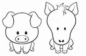 cute farm animals drawings.  Farm How To Draw A Simple Animal Step By Step Farm Animals Animals  Intended Cute Drawings