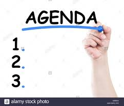 Agenda List Agenda List Concept Made By A Human Hand Holding A Marker On